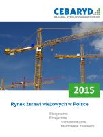 Raport: Rynek żurawi wieżowych w Polsce 2015